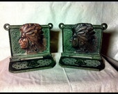 Antique Indian Swastika Bookends