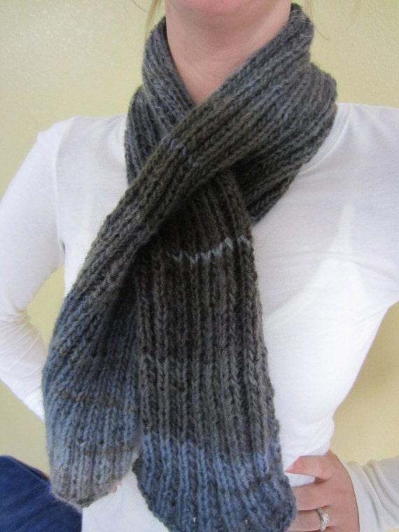 Knit Keyhole Scarf by mylittlehats on Etsy