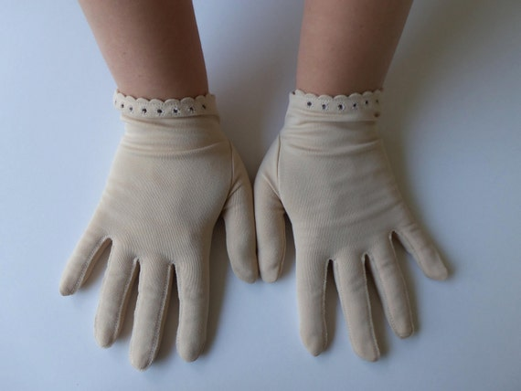 Beautiful Stetson Beige Vintage Gloves