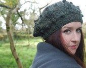 Slouch Knit Hat - Mossy Green