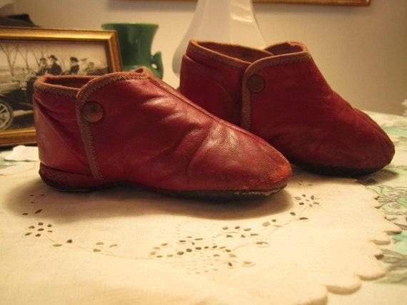 Childrens  Leather Booties