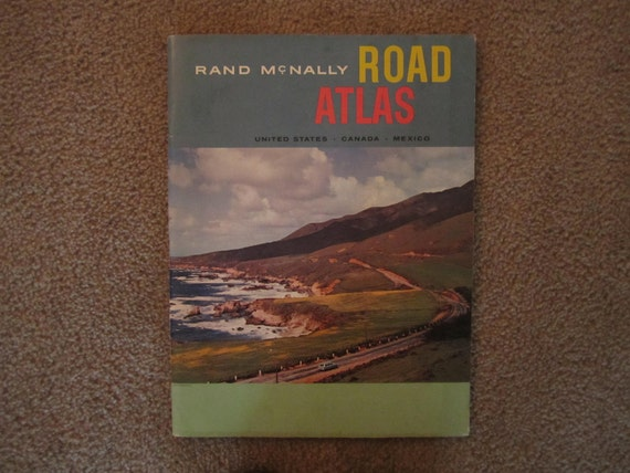 Beautiful Vintage 1960s  Rand McNally Road Atlas