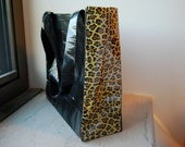Black & Leopard Duct Tape Tote Bag