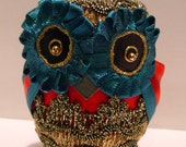 Ornamental owl for Christmas decoration or a nice gift for every occasion (D4) MADEINITALYTEAM