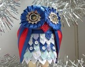 Ornamental owl for Christmas decoration or a nice gift for every occasion (C2) MADEINITALYTEAM