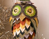 Ornamental owl for Christmas decoration or a nice gift for every occasion (C5) MADEINITALYTEAM