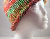 Kool-Aid-Dyed Knitted Merino Wool Cap OOAK