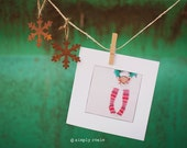 Blank Holiday Cards Set - Holiday Decor - Winter Photography Card - Candy Cane Cards