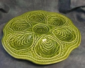 Majolica Oyster Plate by Boch Freres, Belgium