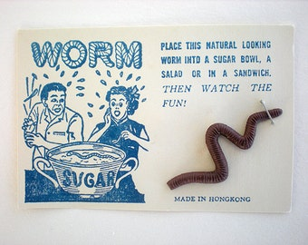 Realistic worm gag on original graphic card