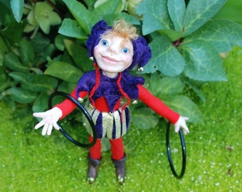 Jasper Jester HANDMADE Sprite Faerie Fairy Doll OOAK