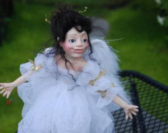 Garden Fairy Holly HANDMADE OOAK Sprite Faerie Fairy Doll