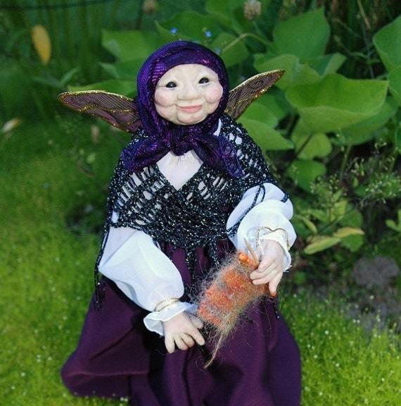 Nonna Babushka HANDMADE Sprite Pixie Fairy Doll Faerie Doll