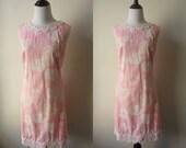 SALE 60s Resort Dress, Vintage Pink Shifts Internationale Dress