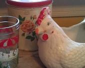 Vintage Chicken Planter Retro Kitchen