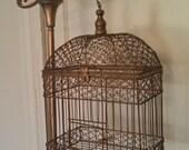RESERVED FOR DAVID Vintage Birdcage
