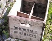 Vintage Wood Crate Industrial Wine Crate