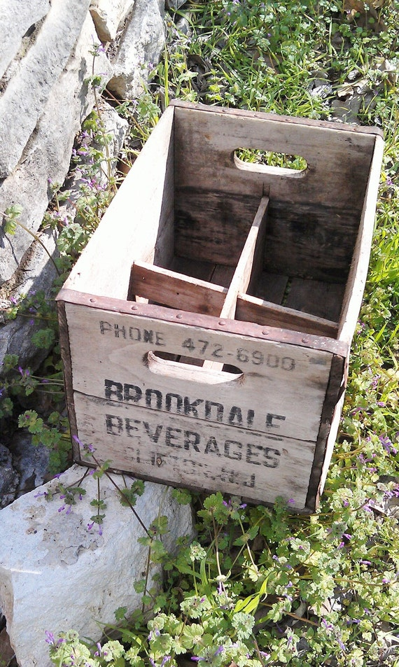 Vintage Wood Crate Industrial Wine Crate
