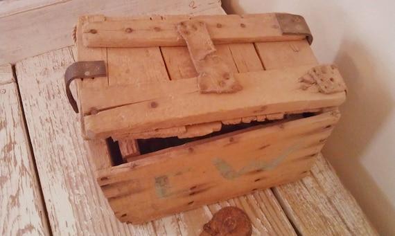 Vintage Tackle Box Wood Box
