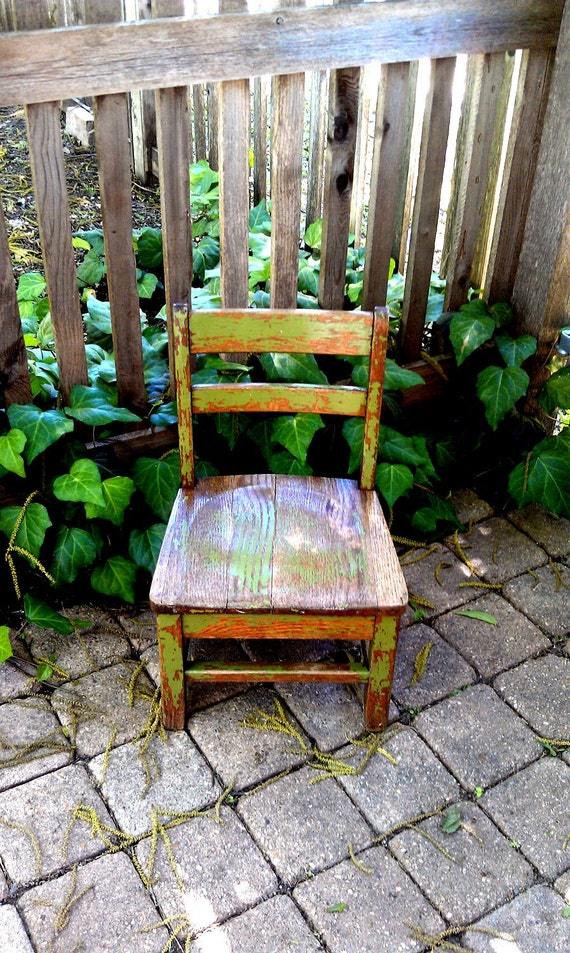 Vintage Child's Chair Painted Wood