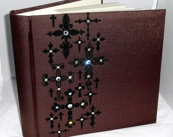 Cross Photo Album embellished with swarovski crystals