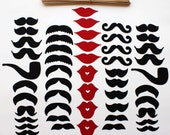 DIY 50 Piece Photo Booth Props - Super Stache Party