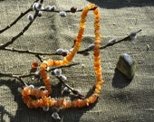 NATURAL amber necklace, Unpolished Raw Amber Necklace,  length 18'' or 45 cm. Maximum HEALING effect.
