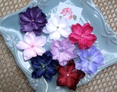 Baby flower hair clips - toddler flower clips - Choose 4 small flower clips with rhinestone centers