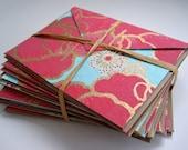 Pink Poppy Handmade Stationary Card Set