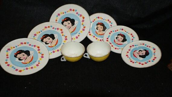 Vintage Disney Snow White Tea Set