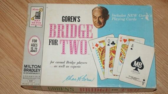 Vintage 1964 Goren's Bridge for Two, Milton Bradley