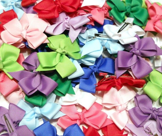 1.00 Hair Bows/ Set of 15/ Classic Bow/ Great For Newborns, Infants, and Toddlers/ 3 Inch Bows/ Wholesale Bows
