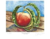 Peach With A Twist, Fine Art Print Apx 5x7