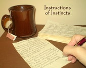 Instruction Of Instincts Poem - Handwritten Poetry - Grand Opening Sale