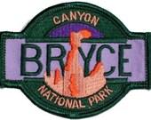 Utah Bryce Canyon National Park Iron On Travel Souvenir Applique Patch