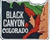 Black Canyon Colorado Iron On Travel Souvenir Applique Patch