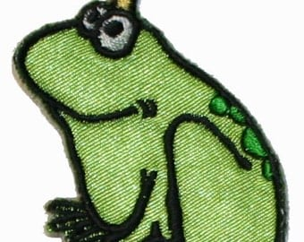 Frog Prince Iron On Applique Patch