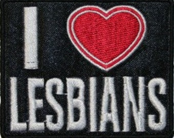 I Heart Lesbians Iron On Applique Patch