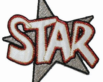 Star award Iron On Applique Patch