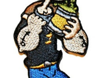 Popeye The Sailor Man Cartoon Embroidered Iron On Applique Patch