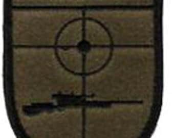 Sniper Police Military OD Green Embroidered Iron On Applique Patch
