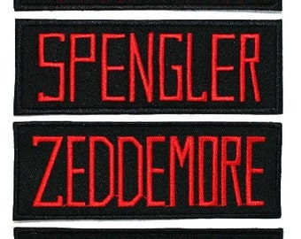 Ghostbusters Name Iron On Uniform Costume Applique Patches Lot of 4