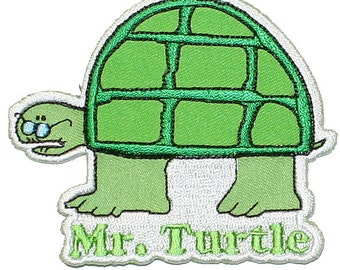 Mr Turtle Tootsie Roll Candy Cartoon Boys Embroidered Iron On Officially Licensed Applique Patch
