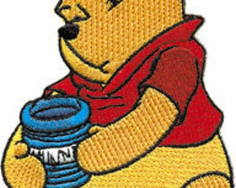 Disney Winnie The Pooh Honey Embroidered Iron On Officially Licensed Applique Patch