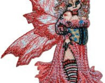 Amy Brown Flirt Fairy Licensed Embroidered Iron On Patch CD821