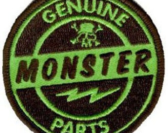 Artist Kruse Genuine Monster Parts Embroidered Iron On Applique Patch FD
