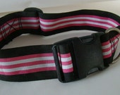 Vintage Belt Dog Collar - Candy Stripe - fully adjustable