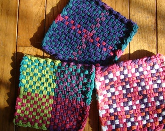 EASTER Potholders for Charity. 100% of proceeds to Child Fund International  - handmade by child.