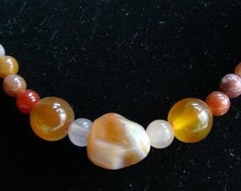 Earth Tones - Choker of Large Jasper Stones - 16 inch