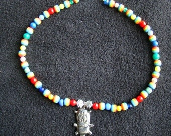Rainbow Horse Caricature - 18 inch - Girl or Tween Fun Necklace